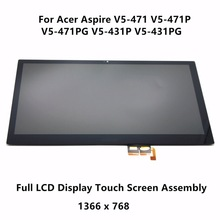Original New V5-431P V5-471P Touch Assembly for Acer Aspire Screen with LCD Display + Silver frame