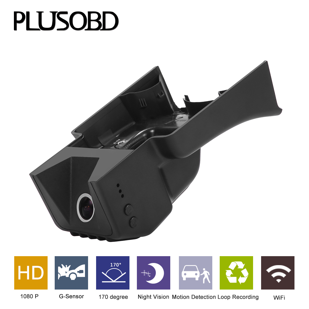 PLUSOBD Hidden Car Video Recorder For Benz S W221 Low Configuration Wifi HD 1080P 170 Wide Angle Night Vision Camera Tachograph
