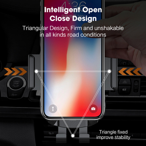 Image 3 - 10W 15W Qi Car Wireless Charger Air Vent Mount Phone Holder Full automatic Fast Charging For Samsung Galaxy S9 S10 iPhone X