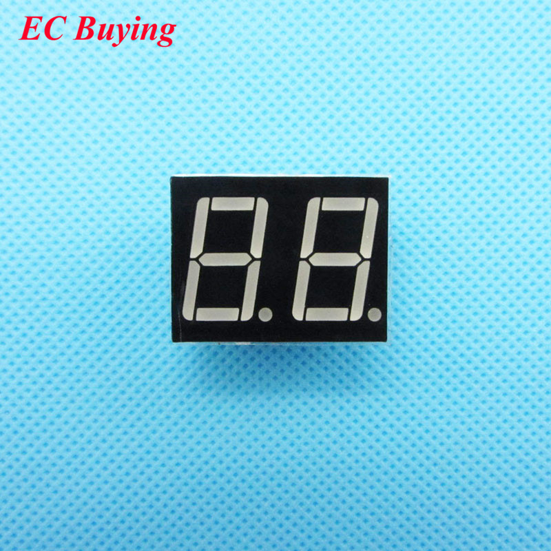 50pcs 2 Bit 2bit Digital Tube Common Anode Positive Digital Tube 0.56
