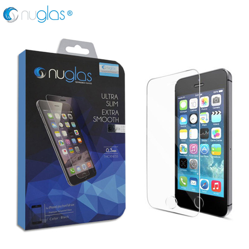 NUGLAS Tempered Glass Screen Protector for Apple iPhone 5 5s 5c SE on Glass Tempered for iphone5 5 s Phone lcd Film Brand New
