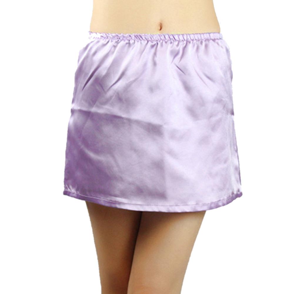 Damen Satin Trägerkleid Unterkleid Hemd Kunstseide Petticoat Unterrock