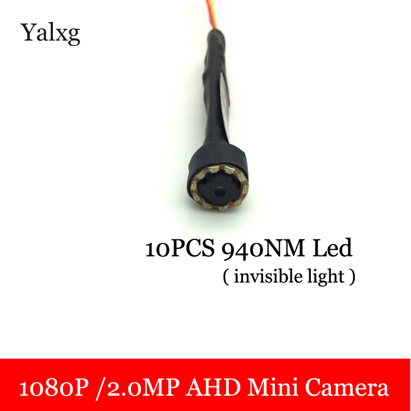 Yalxg HD AHD Mini 1080P 1920*1080 Kit Wired CCTV Camera System Smallest Surveillance Home Security Camera With 10PCS 940NM Led