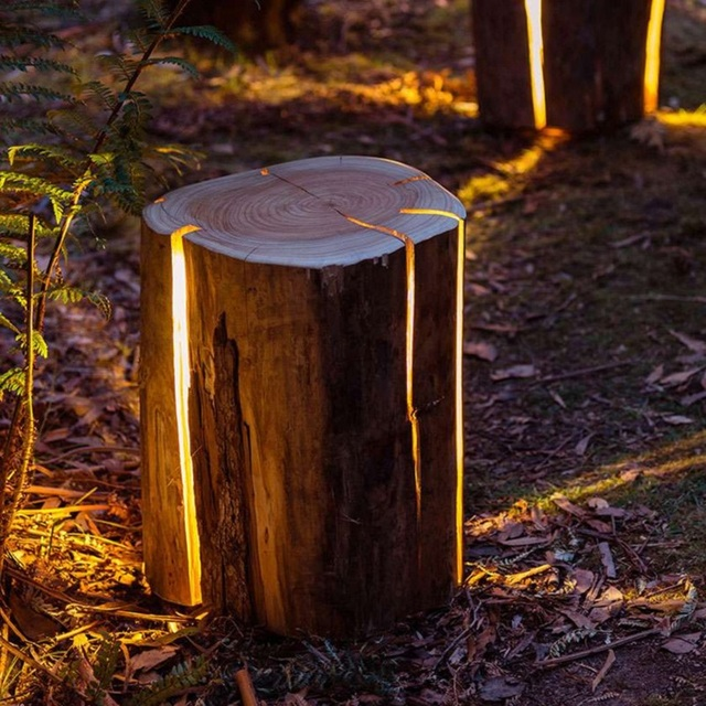 LED Outdoor Light Garden Lamp Lawn Decorative Tree Stump Bionic Technology  Light Waterproof DALLAST