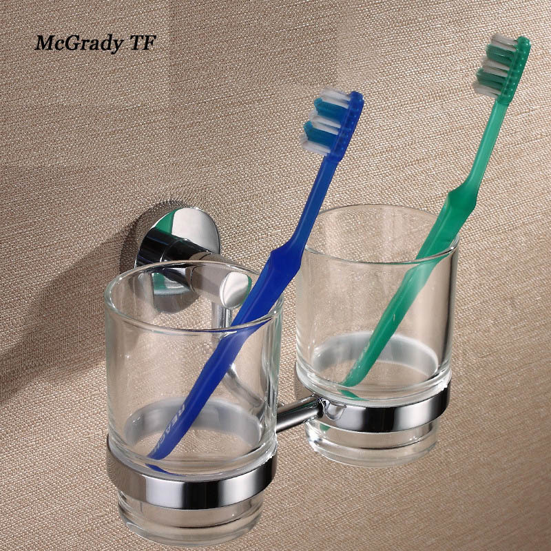 2018 New Arrivals Toothbrush Holder Double Cup Set Of Mouthwash Cup Manufacturers Wholesale Direct Selling Toilet Accessories