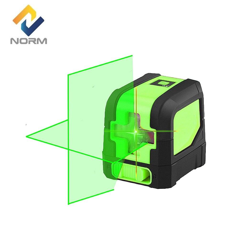 Norma Mini 2 Cruz Linhas de Nível A Laser Vermelho Feixe ou um Feixe de Auto-Nivelamento Nível Laser Verde na Caixa Sem suporte