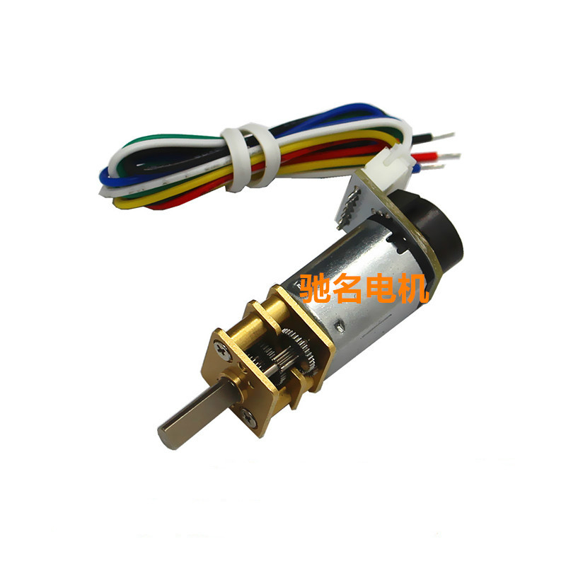 Ga12 n20 dc gear motor with encoder speed velocity for Dc gear motor with encoder