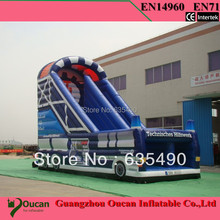 PVC tarpaulin inflatable bouncers with slide for kids and baby