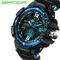 Sanda marca hombres deportes relojes moda casual reloj choque reloj digital relogio masculino militar impermeable wristwatche