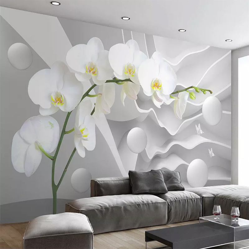 Custom Photo Wallpaper 3D Stereo Abstract Space Round Ball Flowers Mural Bedroom TV Background Home Decoration Wall Paper Rolls