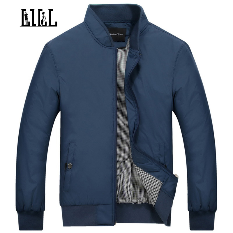 LILL | Smooth Fashion Casual Male Jacket Men Thin Business Brand Clothing Spring Stand Collar Men's Coat Bomber Jackets,UMA346