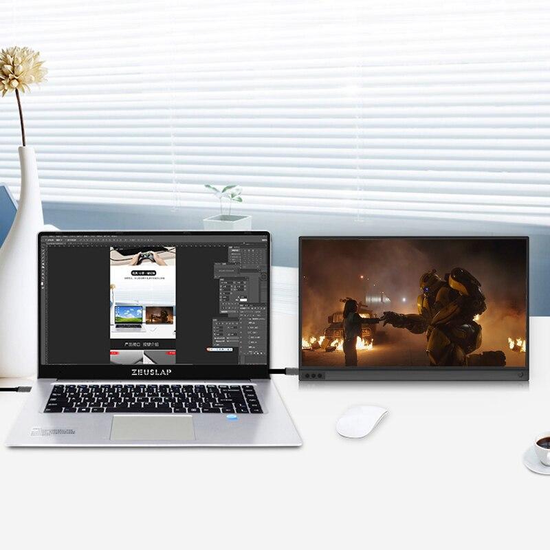 15.6 pouces LCD moniteur Portable ultra mince 1080P IPS HD USB type C affichage pour ordinateur Portable téléphone XBOX commutateur et PS4 moniteur de jeu - 3
