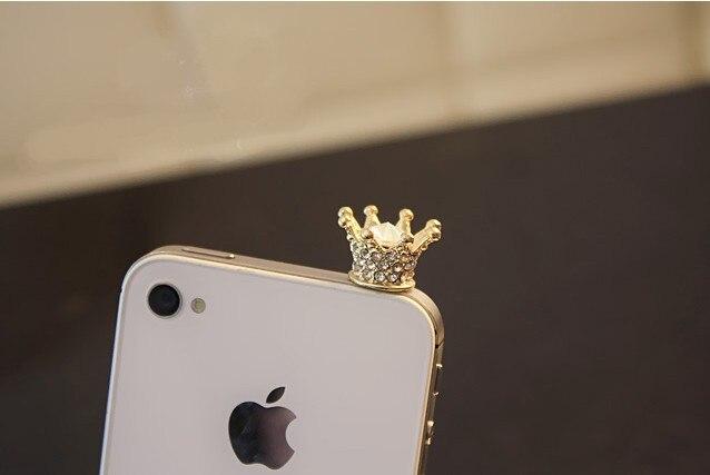 3.5mm nueva imperial corona enchufe del polvo para iphone para samsung para xiao