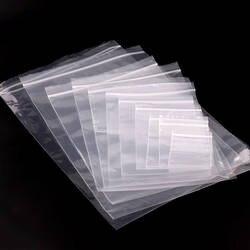20 размеров дешевле прозрачной Пластик уплотнение почтовый замок сумки Поли Reclosable ForJewelry упаковки закуски хранилищ