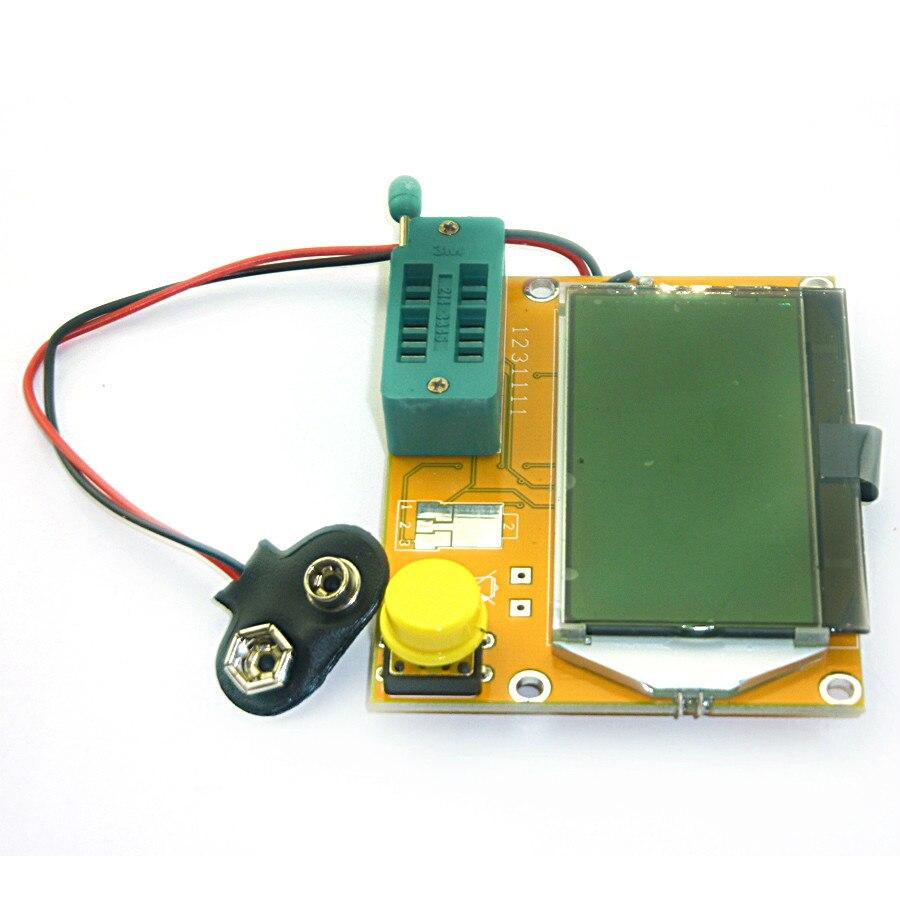 Latest LCR-T4 ESR Meter Transistor Tester Diode Triode Capacitance Mos Mega328 Transistor Tester + CASE (not Battery )