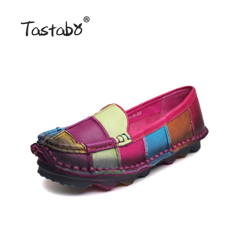 Tastabo Leather Autumn Shoes Pregnant Women's Shoes Female Moccasins Women's Losers Casual Shoes Flats Plus Size Shoes Women selenga hd80