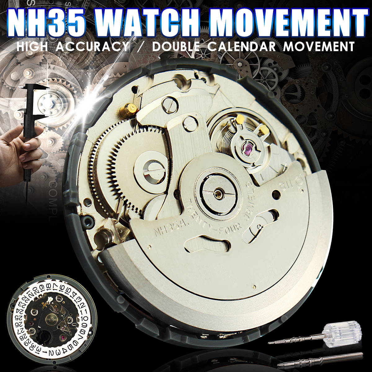 Japan Genuine NH35 Wristwatch Movement Mechanical Watch Movement Automatic Wholesale New ArrivalJapan Genuine NH35 Wristwatch Movement Mechanical Watch Movement Automatic Wholesale New Arrival