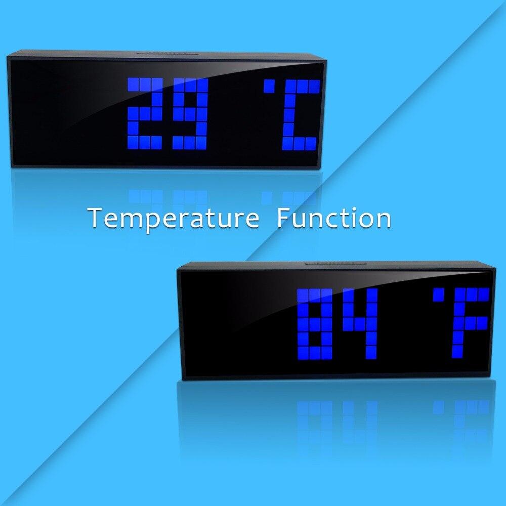Mode compte à rebours numérique grand grand Jumbo LED compte à rebours mur bureau réveil 12/24 heures affichage Snooze Date nouvelle horloge de mode