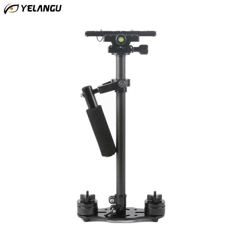 YELANGU Carbon Fiber 60CM Handheld Stabilizer DSLR Professional Steadicam for Canon Nikon Sony Digital Camera Camcorder DHL Free yelangu dslr rig video stabilizer mount rig dslr cage handheld stabilizer for canon nikon sony dslr camera video camcorder