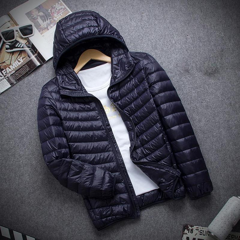 28173c578d2 2019 Winter Jacket Men Packable Hoodie Down Jacket Winter Hooded ...