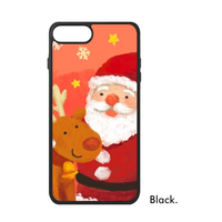 Christmas Santa Claus Reindeer Winter Snowflake Snowman Red Candy Love Phone Case For IPhone X 7