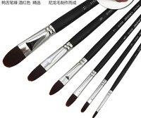 Marie marka G1636 Boya Fırçaları Akrilik Yağ Guaj boya fırçaları boyama malzemeleri 6 adet/takım Boya Fırçaları Ofis ve Okul Malzemeleri -
