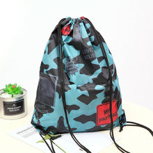 Waterproof Drawstring Bag Unisex Fashion Pocket Backpack Camouflage Male High Quality Soft Folding Shopping Bag Football SY95