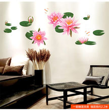 Picture For Child Can Remove Ink Stick Study Bedroom Sitting Tv Setting Water Lily Lotus Leaf Cartoon Animation Landscape Photo(China)
