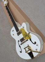 Бесплатная доставка Cnbald Gre tsch 6120 Белый Сокол 6120 полуакустическая Дека джаз электрогитара с Bigsby 181101