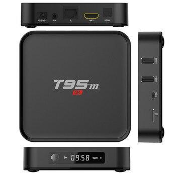 Original T95M TV Box Amlogic S905X Quad Core Android 6.0 4K HD Smart Media Player 1GB/2GB RAM 8GB ROM 2.4GHz WiFi Set Top Box