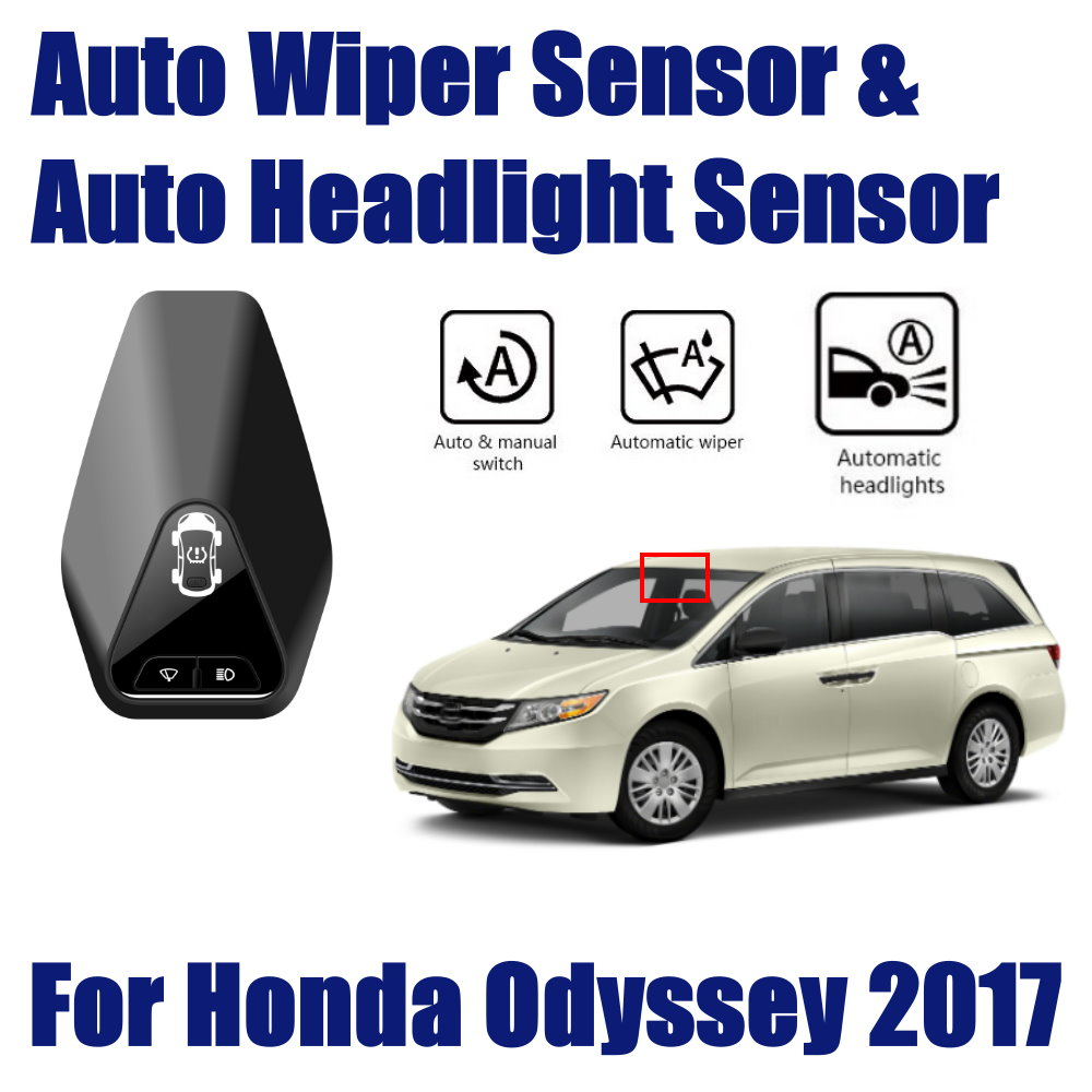 For Honda Odyssey 2015 2017 Car Automatic Rain Wiper Sensors Headlight Sensor Smart Auto Driving Assistant System in Switch Control Signal Sensor from Automobiles Motorcycles