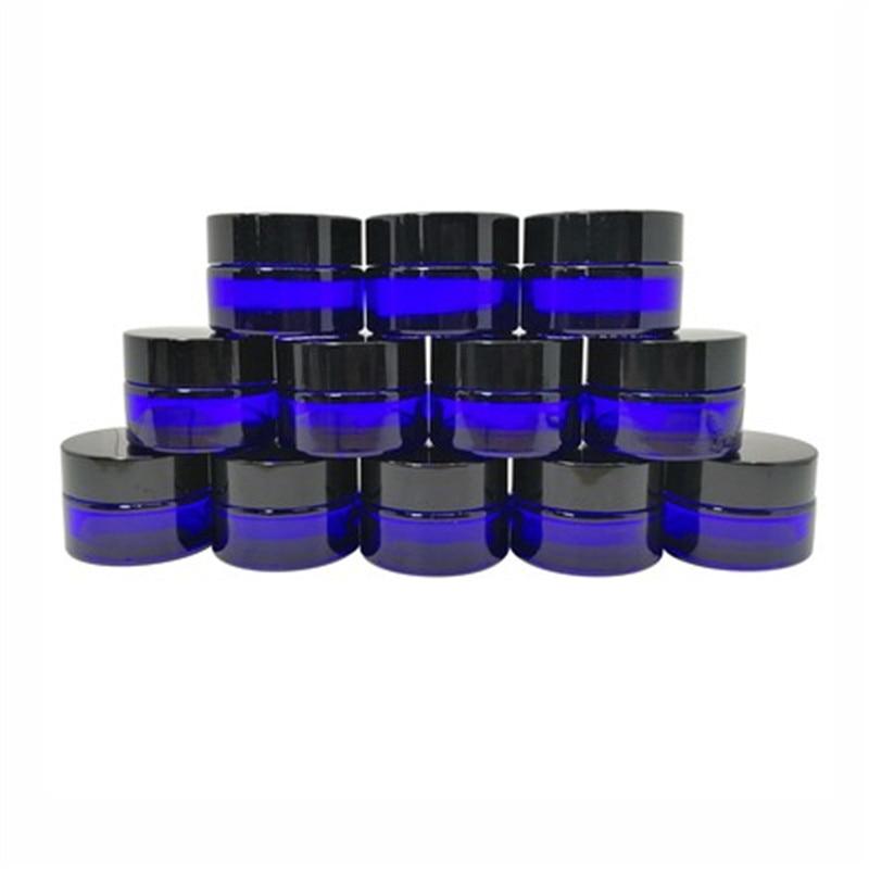 12, Cobalt Blue, 15g (1/2 oz Round Glass Jars, with Inner