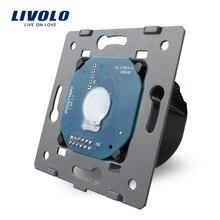 Envío Libre, Fabricante Livolo, Estándar de LA UE, la Base de la Pantalla Táctil de Pared Interruptor de La Luz, VL-C701, 110 ~ 250 V