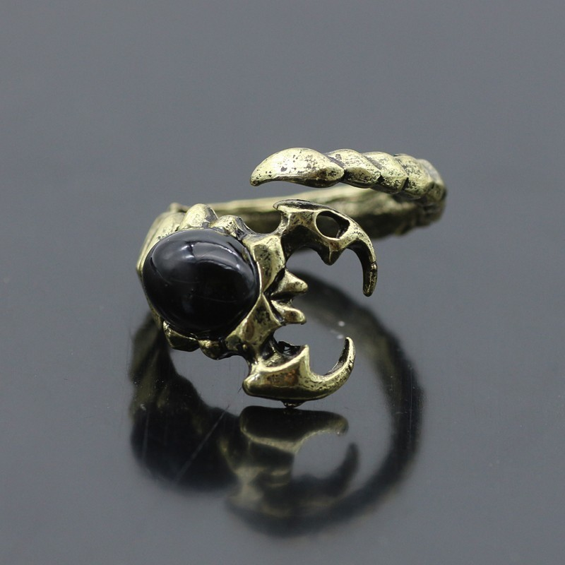 Gothic Punk Animal Ring Dog Dragon Wolf Bird Lion Head Skeleton Eagle Claw Rings For Men Women Biker Jewelry Gift Anel Masculino in Rings from Jewelry Accessories