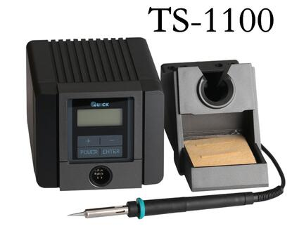 QUICK TS1100 intelligent leadfree soldering station 90W thermostatic adjustable electric soldering iron solder knokoo esd safe 75w soldering handpiece for di3000 intelligent soldering station solder iron