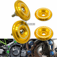 Motorcycle Accessories For Kawasaki Z900 Z 900 2017 2018 Motorbike Aluminum Frame Hole Cap Cover With Screws 5M Fairing Guard цены