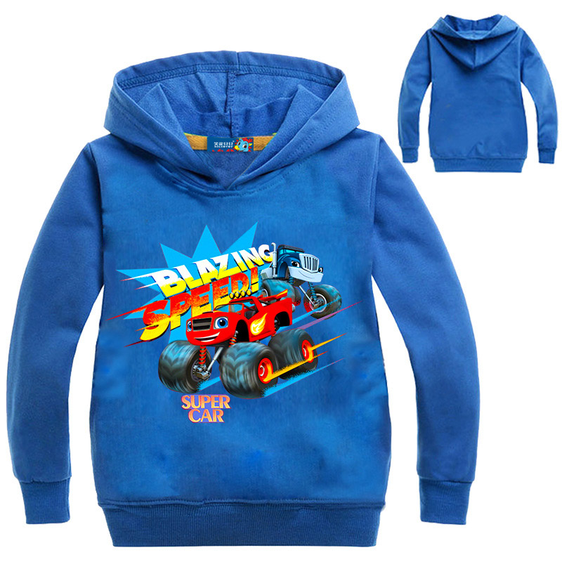 Blaze Car Monster Machine Clothes Kids Hoodies Children Boy Girl Tops Boys Coat Kids Boys Blazing Speed Cartoon Sweatshirts