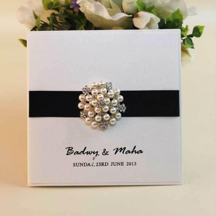 Unique White And Black Wedding Design Invitation Cards White Lace ...