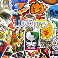 1000 PCS Mix Style Stickers Fridge Skateboard Toys Cool JDM Doodle Decals Home Decor Luggage Car