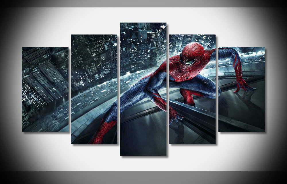 6606 Spider Man Poster Framed Gallery wrap art print home wall decor wall picture Already to hang Movie Posters digital prints