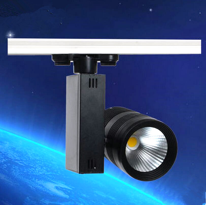 Free Shipping 40W COB LED track light for store/shopping mall lighting lamp Color optional White/black Spot light