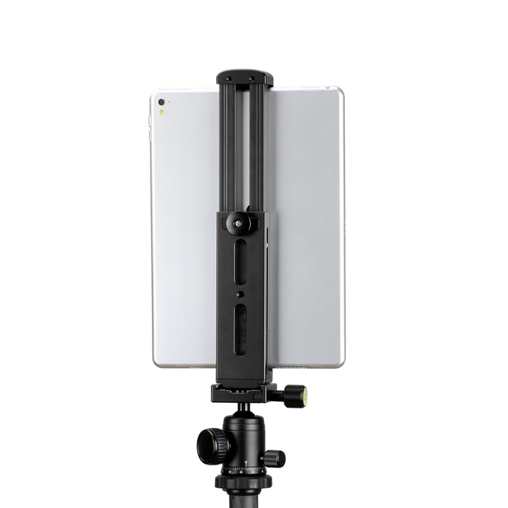Купить с кэшбэком Ulanzi U-Pad Pro Tablet Metal Tripod Mount iPad Clip with Quick Release Plate Cold Shoes for Microphone Led Lights