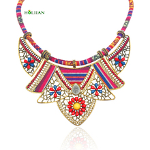 Boho collar for women necklaces&pendants ethnic maxi statment flower choker bohemian jewelry big vintage fashion 2018 new black