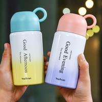 Portable Design Cute Cup Thermos Kids 300ml Stainless Steel Tumbler School Mini Milk Thermos Child Birthday