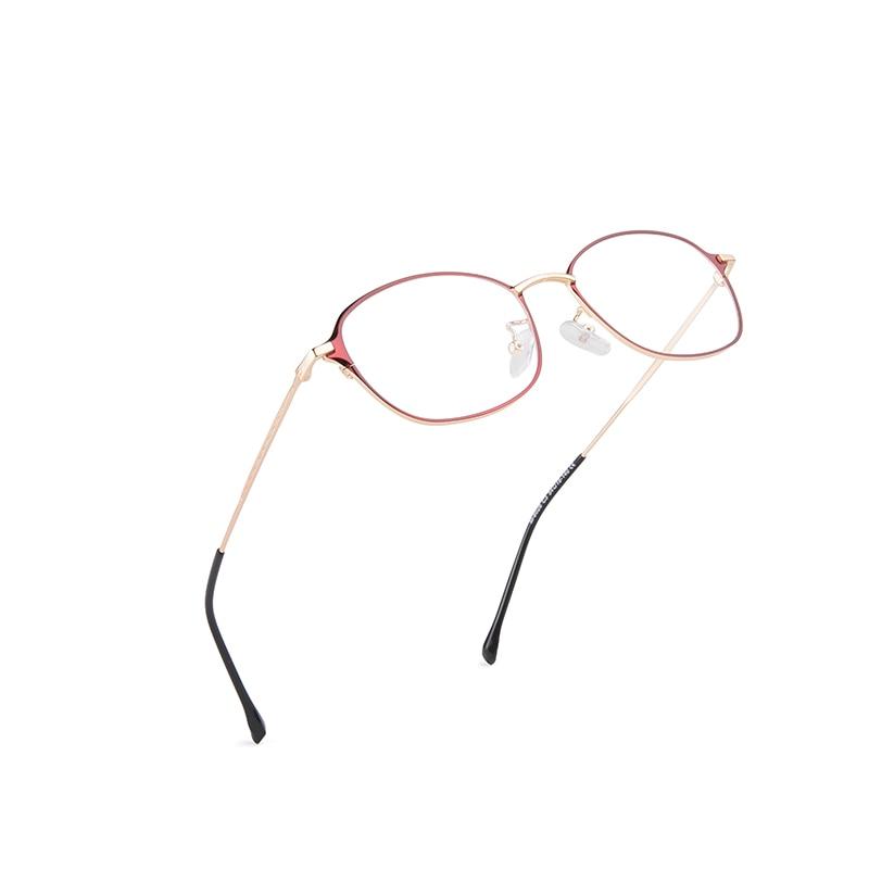 Brand fashion glasses ladies optical myopia frame metal round student box 8028Y