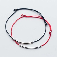 Simple 925 Sterling Silver Bracelet For Women Adjustable Rope Lucky Red Thread Charm Bracelets & Bangles Fashion Jewelry