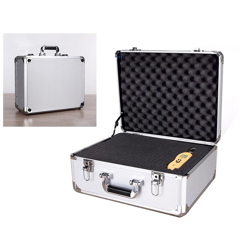 Caja de instrumentos de seguridad portátil, caja de herramientas de aluminio resistente a impactos con espuma, 450x360x200mm
