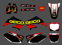 0015 New Style TEAM GRAPHICS BACKGROUNDS DECALS STICKERS Kits For CR125 CR250 2002 2003 2004 2005