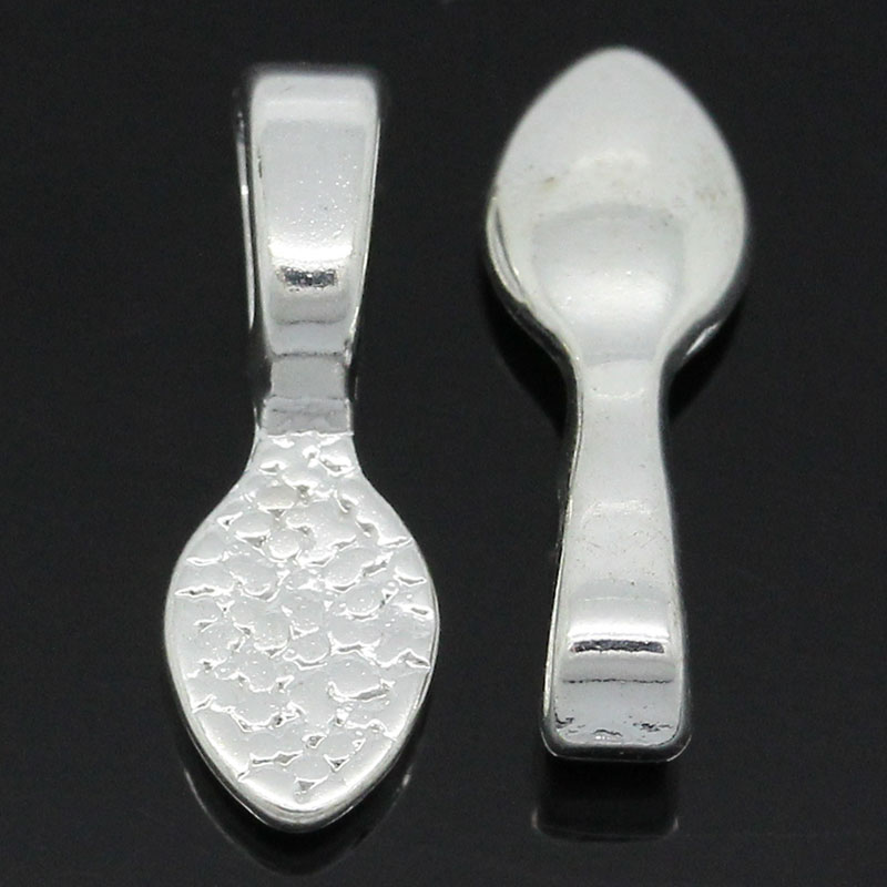 DoreenBeads Tag Glue on Bail Spoon Silver Plated 16x5.5mm,5 PCsDoreenBeads Tag Glue on Bail Spoon Silver Plated 16x5.5mm,5 PCs