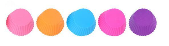 Cupcake Liners Mold 7CM 12pcs 6 Colors Muffin Round Silicone Cup Cake Tool Bakeware Baking Pastry Tools Kitchen Gadgets Ukraine